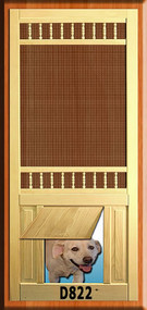 PET WOOD SCREEN DOOR #D822