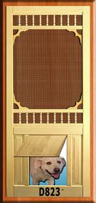 PET WOOD SCREEN DOOR #D823