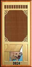 PET WOOD SCREEN DOOR #D824