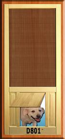 PET WOOD SCREEN DOOR #D801