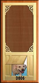 PET WOOD SCREEN DOOR #D806