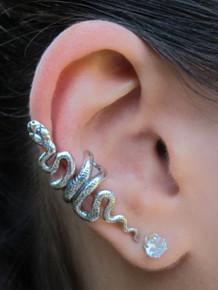 Snake Ear Cuff - Silver