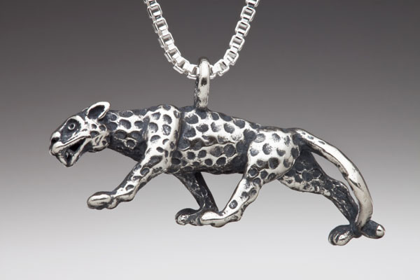 rainforest jewelry - jaguar charm