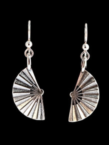 Okinawa - Japanese Fan Earrings