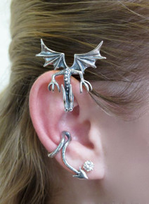 Curious Drachen Ear Wrap Silver