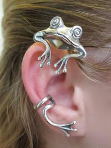 Curieux d'oreille de grenouille Wrap Argent