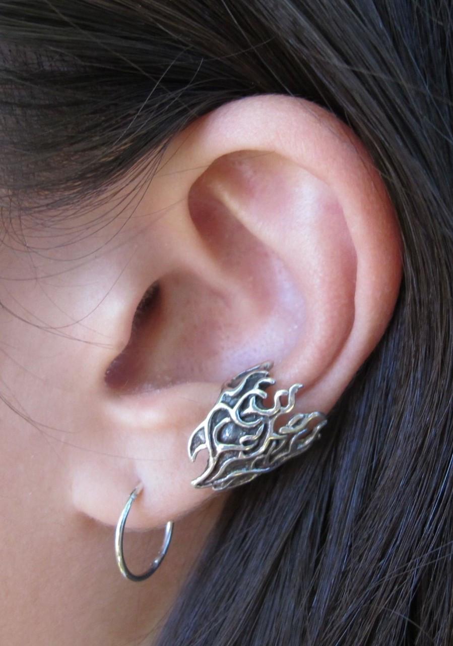 Ear cuff in silver
