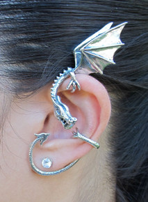 Elfin Dragon Ear Wrap Silver