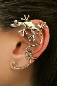 Curious Gecko Ear Wrap Bronze
