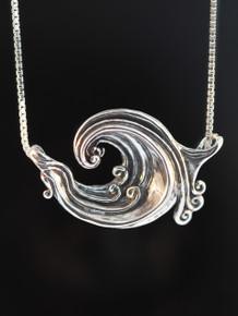 Rip Curl Wave Pendant Silver