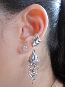 Jellyfish Ear Cuff Silver