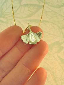 14k Ginkgo Leaf Charm
