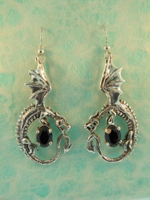 Sterling Silver Oracle Dragon Earrings