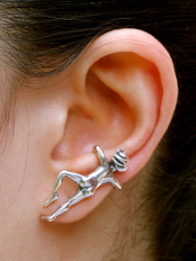 Ear Man Ear Cuff Sterling