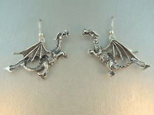 Vintage Soaring Dragon Earrings