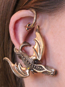 Balerion Dragon Ear Wrap - Bronze