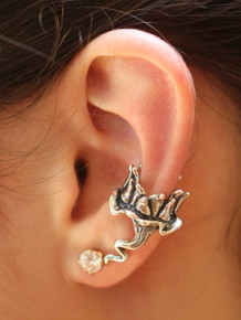 Lotus Dream Ear Cuff - Silver