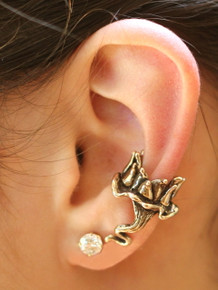 Lotus Dream Ear Cuff - Bronze