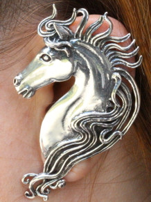 Spirit Horse Ear Wrap - Silver