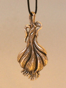 Large Bronze Garlic Pendant