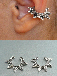 Stacking Ninja Star Ear Cuffs