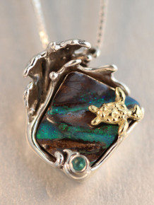 Wave Rider Turtle Pendant