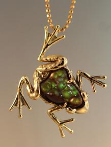 Harlequin Frog Pendant