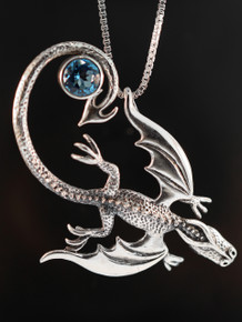 Balerion Dragon Pendant  with Gemstone
