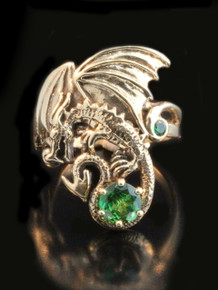 Magic Dragon Ring w/Gemstone - 14k Gold
