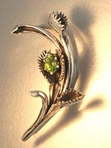 Venus Flytrap Ear Wrap Silver with Gemstone