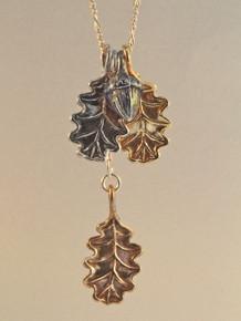 Oak Leaves and Acorn Charm Combo