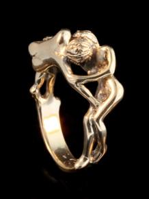 Kiss Ring - 14k Gold