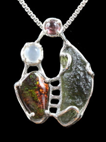 Cosmic Forest Pendant - Sterling Silver