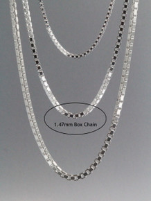 Box Chain 1.47mm Sterling Silver