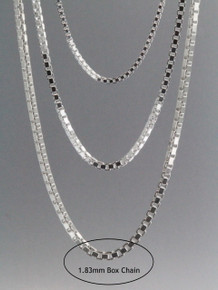 Box Chain 1.83mm Sterling Silver
