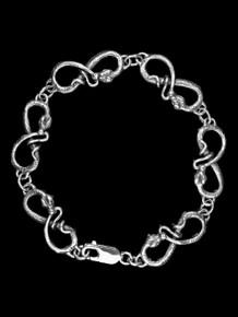 Snake Link Bracelet - Silver