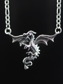 Dragon In Flight with Figaro chain