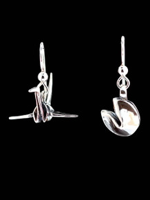 Peace Crane and Fortune Cookie Earrings
