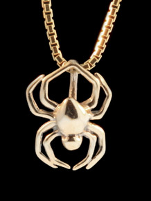 Gold Small Spider Charm - 14k Gold