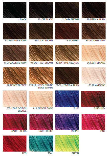 Hairart hairart clip in extensions hedlux hairart hair extensions color chart pmusecretfo Gallery