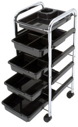 Trolley w/ Black Trays