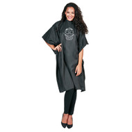 Betty Dain Sugar Skull Styling Cape (8002-BLK/SIL)