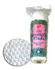 100% Cotton Cosmetic Pads 100/pk