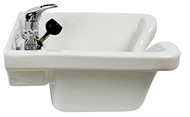 Keen Tuscano Wall Mount Ceramic Bowl-White