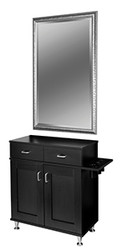Keen Williamsburg Cabinet Styling Station - Midnight Black