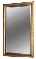 "30"" X 48"" Beveled Gold Framed Mirror"