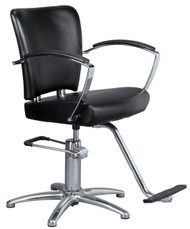 Styling Chair 5 Star Chrome Base w/T-Footrest