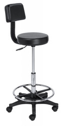 Black Hair Cutting Stool w/Back*