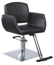 Styling Chair w Square Chrome Base