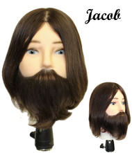 HairArt Elite Male Bearded Mannequin: Jacob